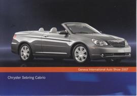 Chrysler Sebring Cabrio, A6-size postcard, Geneva 2007