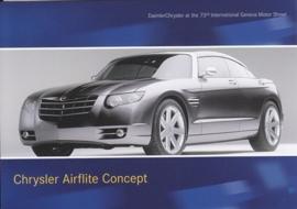 Chrysler Airflyte Concept, A6-size postcard, Geneva 2003
