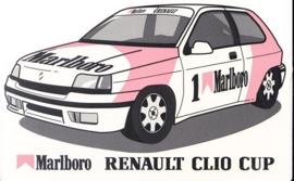 Renault Clio Cup Marlboro, sticker, 9,5 x 15 cm