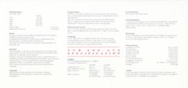 400 SE /450 SE specs. & prices, 2 pages, English language, 1991 *