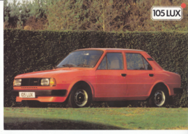 105 Lux 4-Door Sedan leaflet, 2 pages, English language, UK, 1/1984