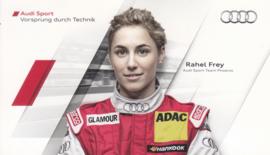 Racing driver Rahel Frey, postcard 2011 season, German language