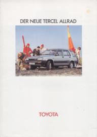 Tercel Allrad (4WD) brochure, 4 pages, 10/1982, German language
