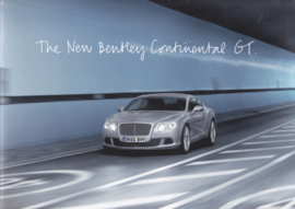Bentley Continental GT press brochure, 32 pages, 2010, English language