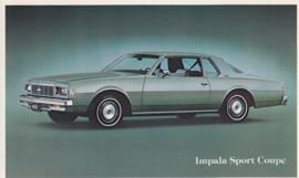 Impala Sport Coupe, US postcard, standard size, 1979