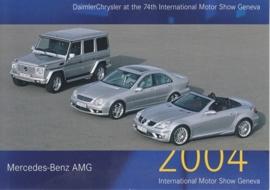 Mercedes-Benz AMG models, A6-size postcard, Geneva 2004