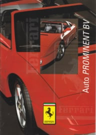 Prominent Ferrari dealer Eindhoven brochure, 4 pages, A4-size, about 1995, Dutch languages