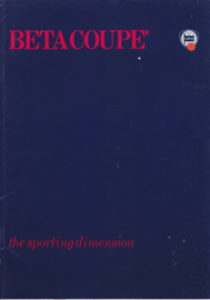 Beta Coupe brochure, A4-size, 30 pages, about 1976, English language