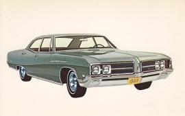 Le Sabre 4-Door Sedan, US postcard, standard size, 1968, # 9