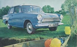 Consul Cortina 2-Door De Luxe, standard size postcard, UK, A2039/12/62