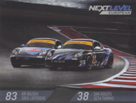 Cayman racers with drivers on the back, stiff USA leaflet, 2 pages, about 2015, English language