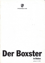 Boxster pricelist, 8 pages, 08/96, German %