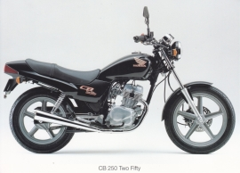 Honda CB 250 Two Fifty postcard, 18 x 13 cm, no text on reverse, about 1994