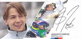 DTM driver Augusto Farfus, oblong autogram card, 2014, German/English