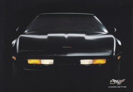 Corvette C4 series 1984-1996, A6 size postcard, 50 years of Corvette, 2003