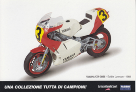 Yamaha YZR OW98 1988, Italian Promocard, DIN A6-size, # 5475