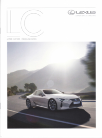 LC 500/LC 500h prices/specs. brochure, 16 pages, 06/2017, German language
