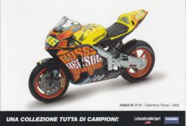 Honda RC 211V 2003, Italian Promocard, DIN A6-size, # 5469