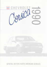 Corsica brochure, 6 pages, export, 1990, Dutch/English language