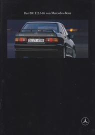 190E 2.5-16 brochure,  26 pages, 03/1991, German language