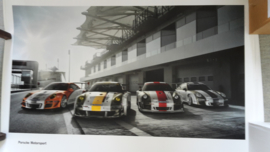 911 Motorsport large original factory poster, published 04/2011