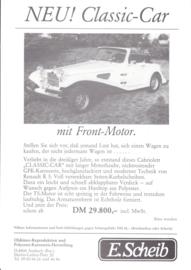 Scheib Suncar Arpege Cabriolet leaflet, 2 page, about 1985, German language