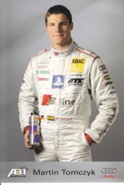 TT with racing driver Martin Tomczyk, unsigned postcard 2003 season, German language