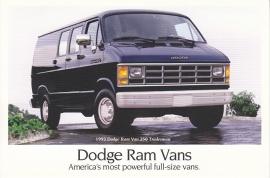 Ram Vans, US postcard, continental size, 1993