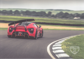 Zenvo TS1 sports car, A5-size postcard, factory-issued, 2018, month: December