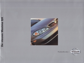 Maxima QX Sedan brochure, 16 pages + specs., 04/2000, Dutch language