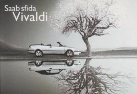 9-3 Cabriolet postcard, A6-size, Citrus Promotion, Italian language, # 0530