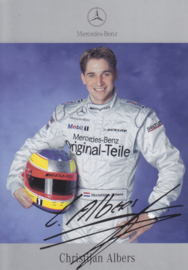 Christijan Albers - DTM 2001 - auto gram postcard, German