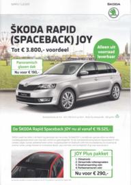 Rapid/Rapid Spaceback Joy brochure, 4 pages, Dutch language, 11/2016
