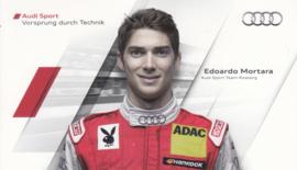 Racing driver Edoardo Mortara, postcard 2011 season, German language