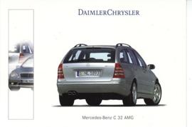 Mercedes-Benz C 32 Estate AMG, A6-size postcard, Geneva 2001