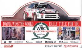 Toyota WRC 1993, sticker, 11,5 x 20 cm