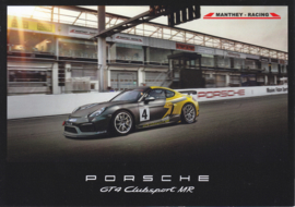 Cayman GT4 Clubsport MR by Manthey Racing glossy card, A5-size, 2015, German/English language