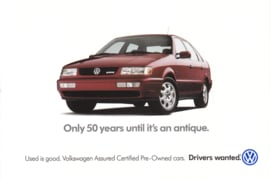 Passat 4-door Hatchback postcard,  A6-size, 1999, USA, English language