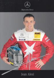 Jean Alesi - DTM 2006 - auto gram postcard, German