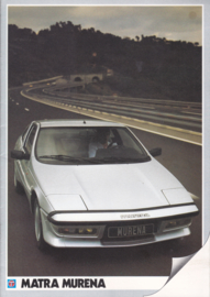 Matra Murena , 16 pages, A4-size, Dutch language, 1983