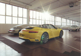 911 Carrera 4S Cabriolet,  A6 postcard, 2016,  German language