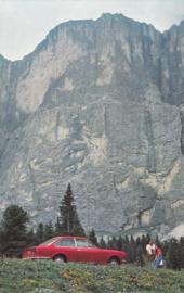 124 Sport coupé, standard size, Italian postcard, undated, about 1967