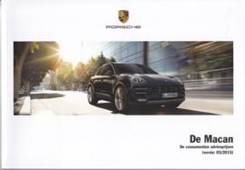 Macan pricelist brochure, 88 pages, 03/2015, Dutch