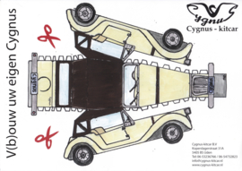 Cygnus kit car leaflet, 1 page, Dutch language, about 2015