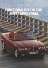 3-Series Cabrio brochure, 8 pages, A4-size, 1/1993, Dutch language