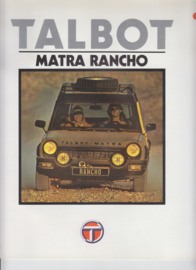 Matra Rancho, 16 large square pages, Dutch language, 9/79