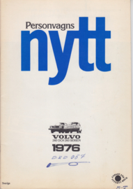 240/260 Sedan & Estate internal brochure, 24 pages, 1976, Swedish language, RSP/PV 2000-75