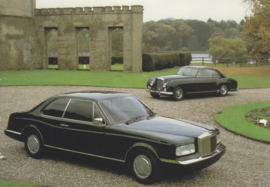 Project 90 with old Continental, DIN A6-size postcard, 1985, English language