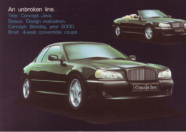 Concept Java Convertible Coupe, DIN A6-size postcard, 1994, English language