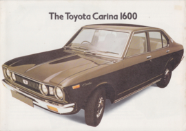 Carina 1600  brochure, 4 pages, 1974, English language, UK